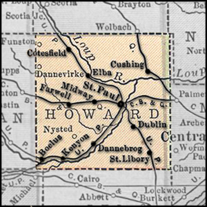 Map of Depots in Howard County